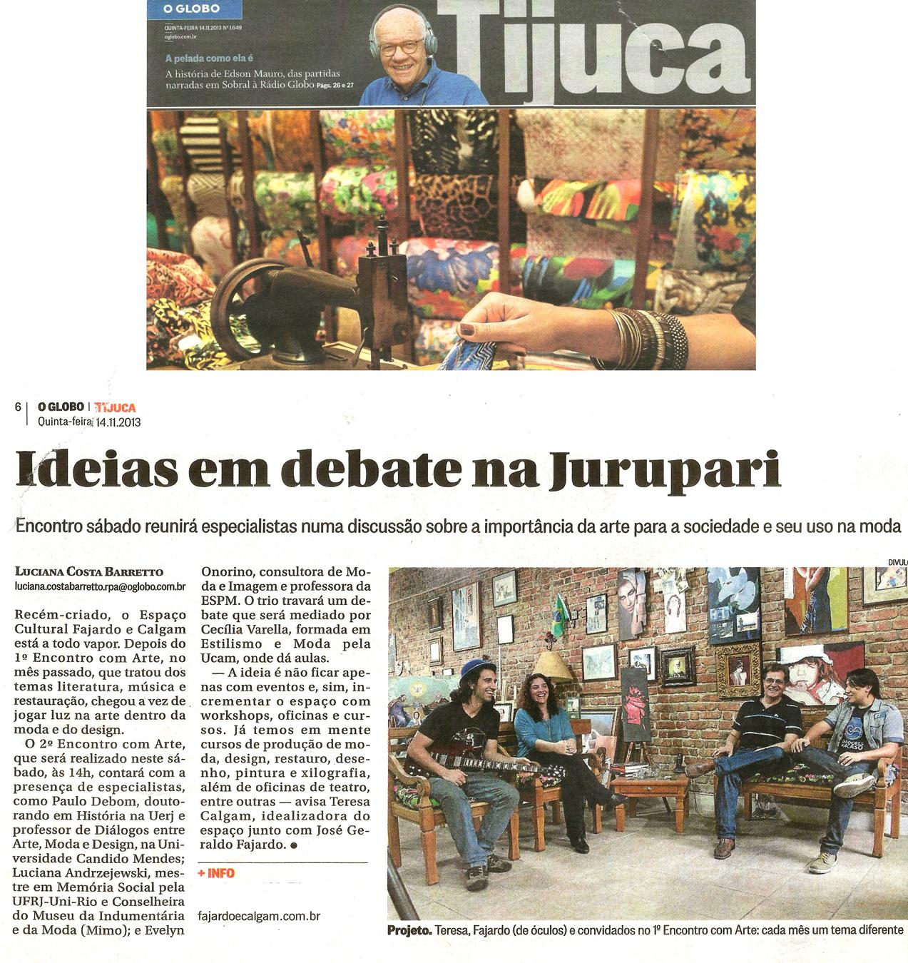 Globo Tijuca 141113 - Enc com Arte seg edição